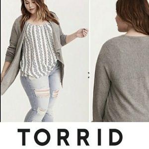 Torrid | Grey Dreaped cardigan